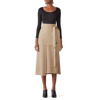 3.1 Phillip Lim Beige Wool Patch Skirt