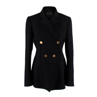 Proenza Shouler Black Double Breasted Wool Blazer