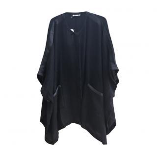 Masai black loose cape with decorative pockets