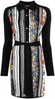 Versace Tresor De La Mer wool and silk  2021 dress