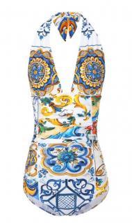 Dolce & Gabbana Majolica Print bathing Costume