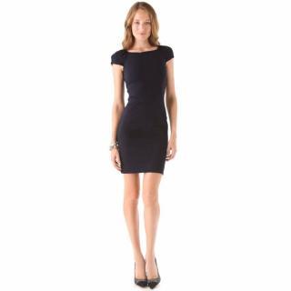 DVF little black boatneck pencil dress