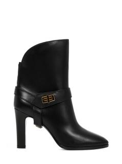Givenchy black leather Eden ankle boots