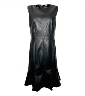 Calvin Klein faux leather black dress