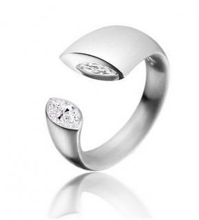 Paul Spurgeon marquis diamond platinum ring
