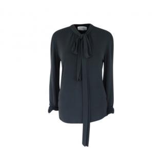 Yves Saint Laurent vintage Rive Gauche black pussy bow blouse