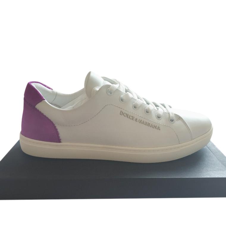 Dolce & Gabbana Nappa Calfskin & Suede Low Top Sneakers