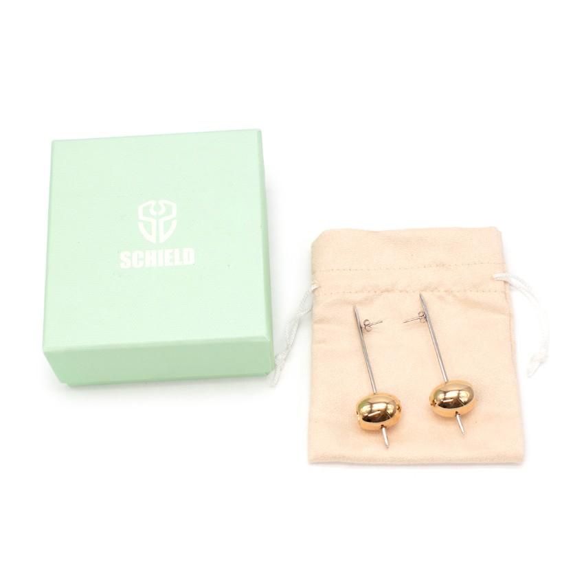 Schield Silver/Gold Tone Olive Earrings