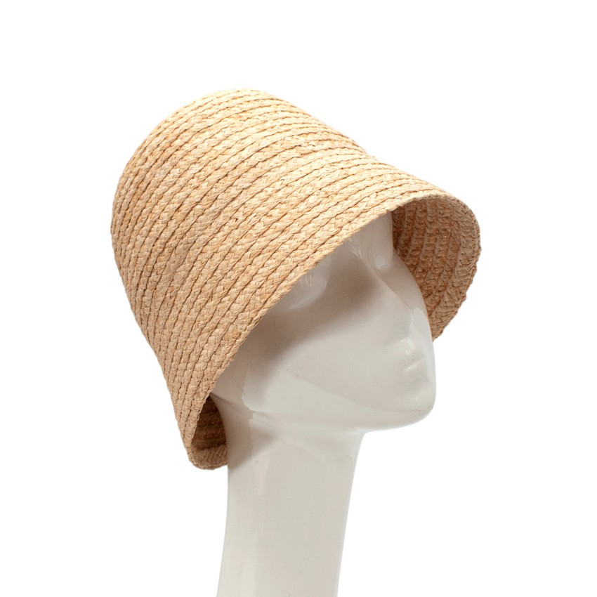 Ruslan Baginskiy Wide Brimmed Natural Straw Paper Cloche Hat