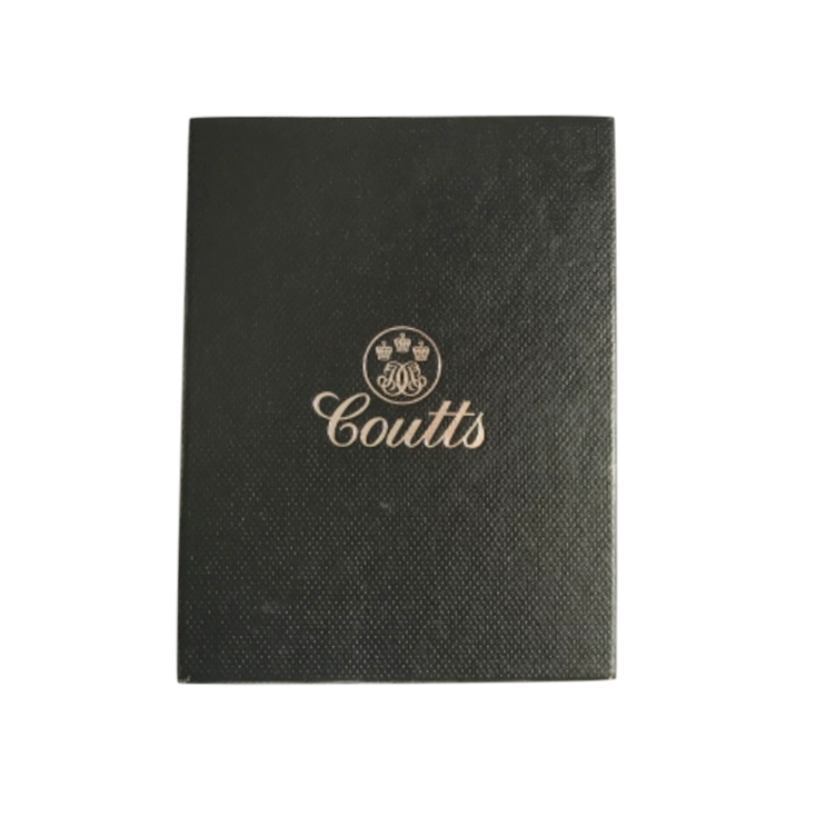 Coutts Black Grained Leather Wallet