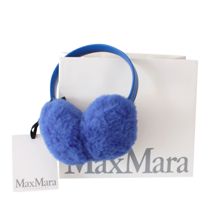 Max Mara Blue Teddy Ear Muffs