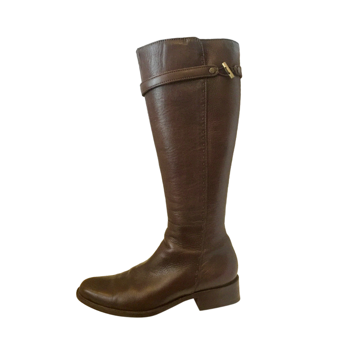 Max Mara Brown Leather Riding Boots
