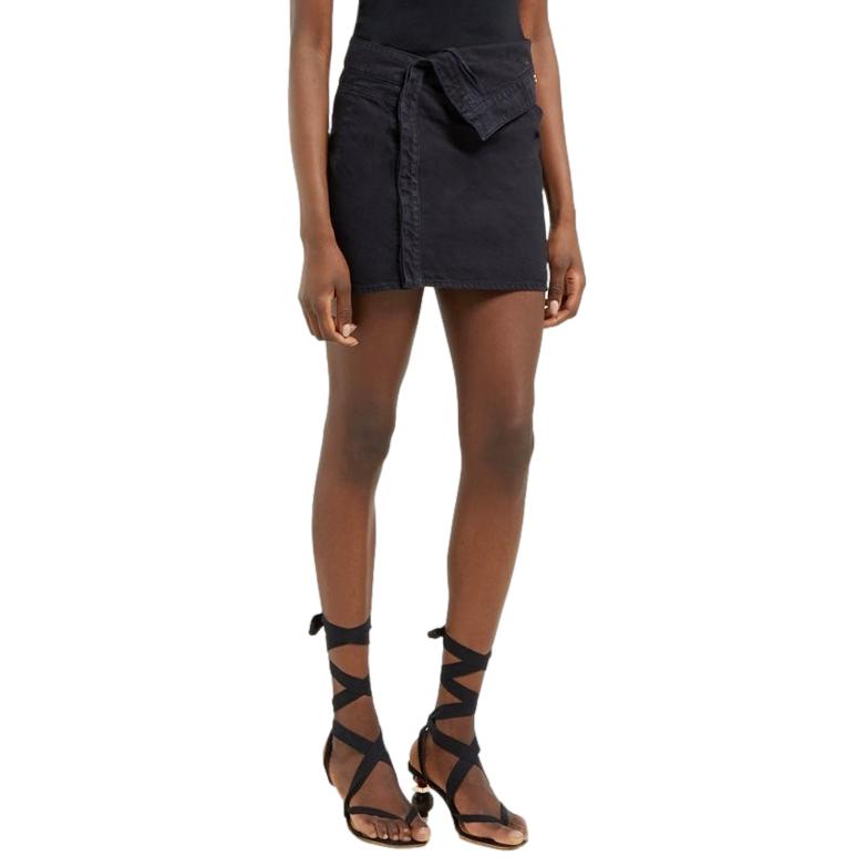 Jacquemus Dark Denim La Riviera Asymmetric Mini Skirt