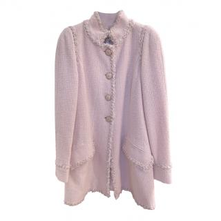 Chanel rare Paris/Versailles Ad campaign pastel pink tweed jacket/coat