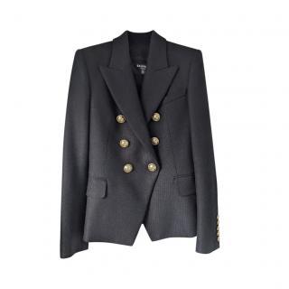 Balmain black wool double breasted blazer