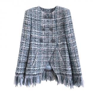 Chanel blue leasge tweed jacket - Paris - Cosmopolite Collection