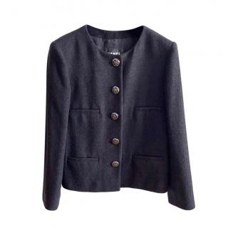 Chanel black Coco Brasserie Collection tweed jacket