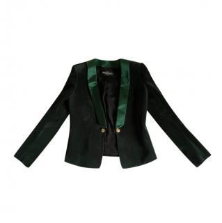 Balmain emerald green velvet smoking blazer/jacket