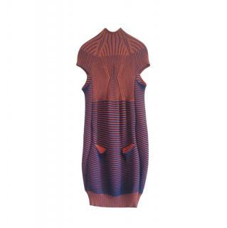 Peter Pilotto orange and blue knit dress