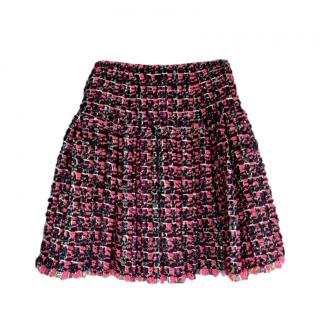 Chanel rare pink fantasy tweed Globalization Collection Skirt