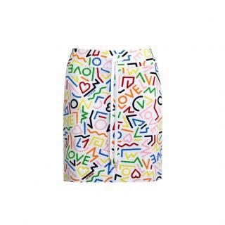 Love Moschino LOVE printed cotton skirt