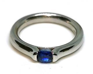 Paul Spurgeon natural sapphire set platinum fusion ring