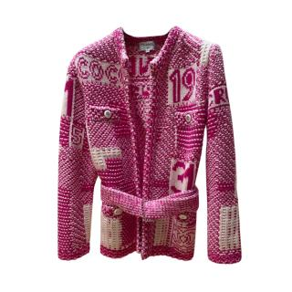 Chanel rare 2020 Coco Express Lucky Number Belted Cardigan