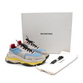 Balenciaga Triple S Red Blue Yellow Sneakers