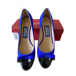 Salvatore Ferragamo royal blue VARA shoes