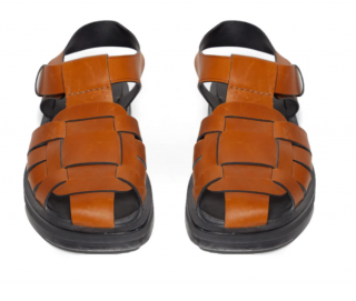 The Row tan fisherman caged sandals