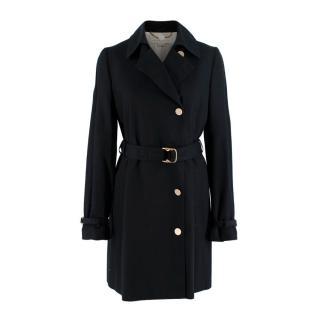 Stella McCartney Black Cotton Belted Trench Coat