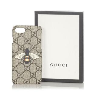 Gucci Bee Print GG Supreme iPhone Case - iPhone 7/8/SE