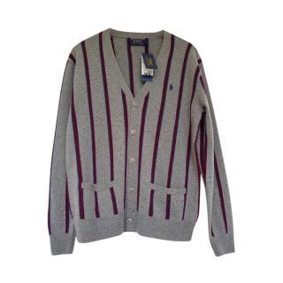 Polo Ralph Lauren Cashmere & Wool Striped Cardigan