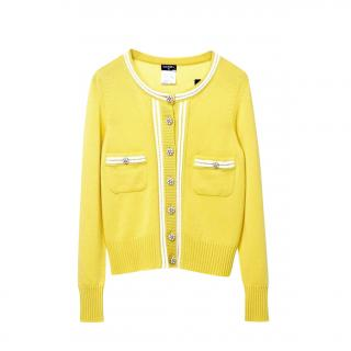 Chanel Yellow Cashmere Cruise Collection Cardigan