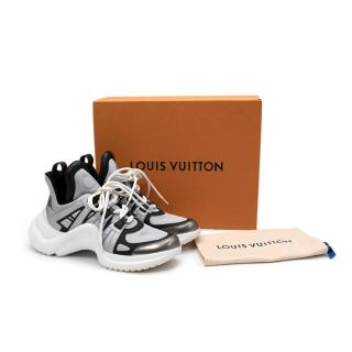 Louis Vuitton Archlight Black & Silver Mesh & Leather Trainers