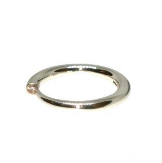 Paul Finch Sterling Silver Diamond Tusk Ring
