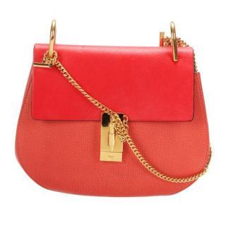 Chloe Red Drew Leather Crossbody Bag