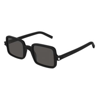 Saint Laurent Black Acetate Rectangle Sunglasses