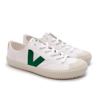 Veja Nova Canvas White & Green Sneakers