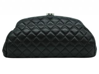 Chanel Black Leather Mademoiselle Clutch