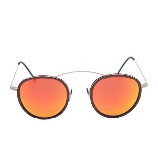 Spektre Metro 2 Brown & Orange Mirror Metal Sunglasses