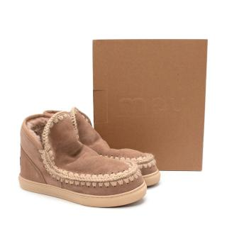 Mou Eskimo Camel Sheepskin Sneaker