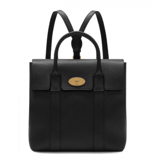 Mulberry Black Grained Leather Bayswater Backpack