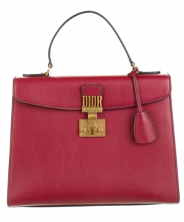 Dior Red Leather Dioraddict Top Handle Bag