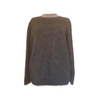 Max Mara Grey Cashmere & Wool Blend Jumper