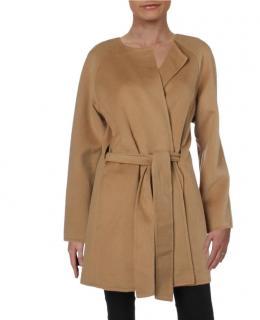 Ralph Lauren Camel Wool Blend Wrap Coat
