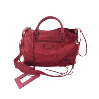 Balenciaga Red Leather Classic City Bag