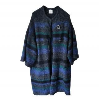 Chanel Paris/Edinburgh Leather Trim Cashmere Coat