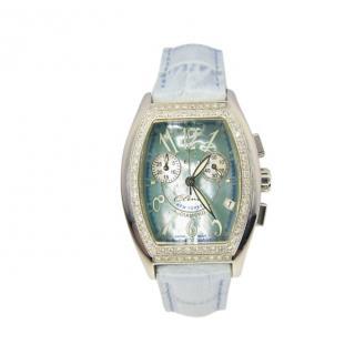 Elini Barokas Diamond NewYorker Blue Wristwatch