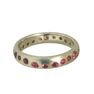 Dower & Hall Pink Sapphire Platinum Fireworks Ring